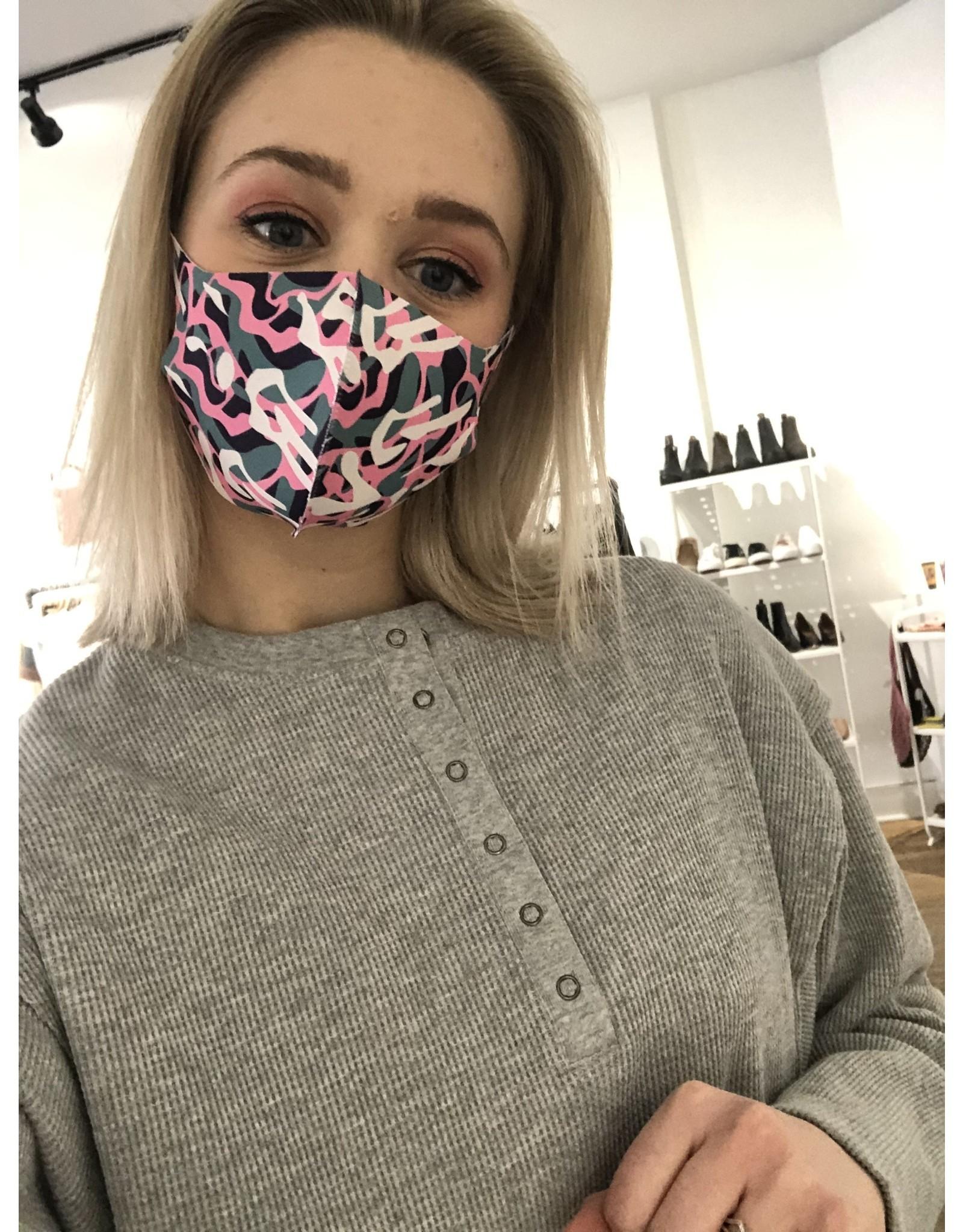 Face mask (pink camo)