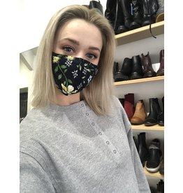 Papillon Papillon - Face mask (navy floral)