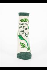 Blue Q Blue Q - Plants Get Me ankle socks