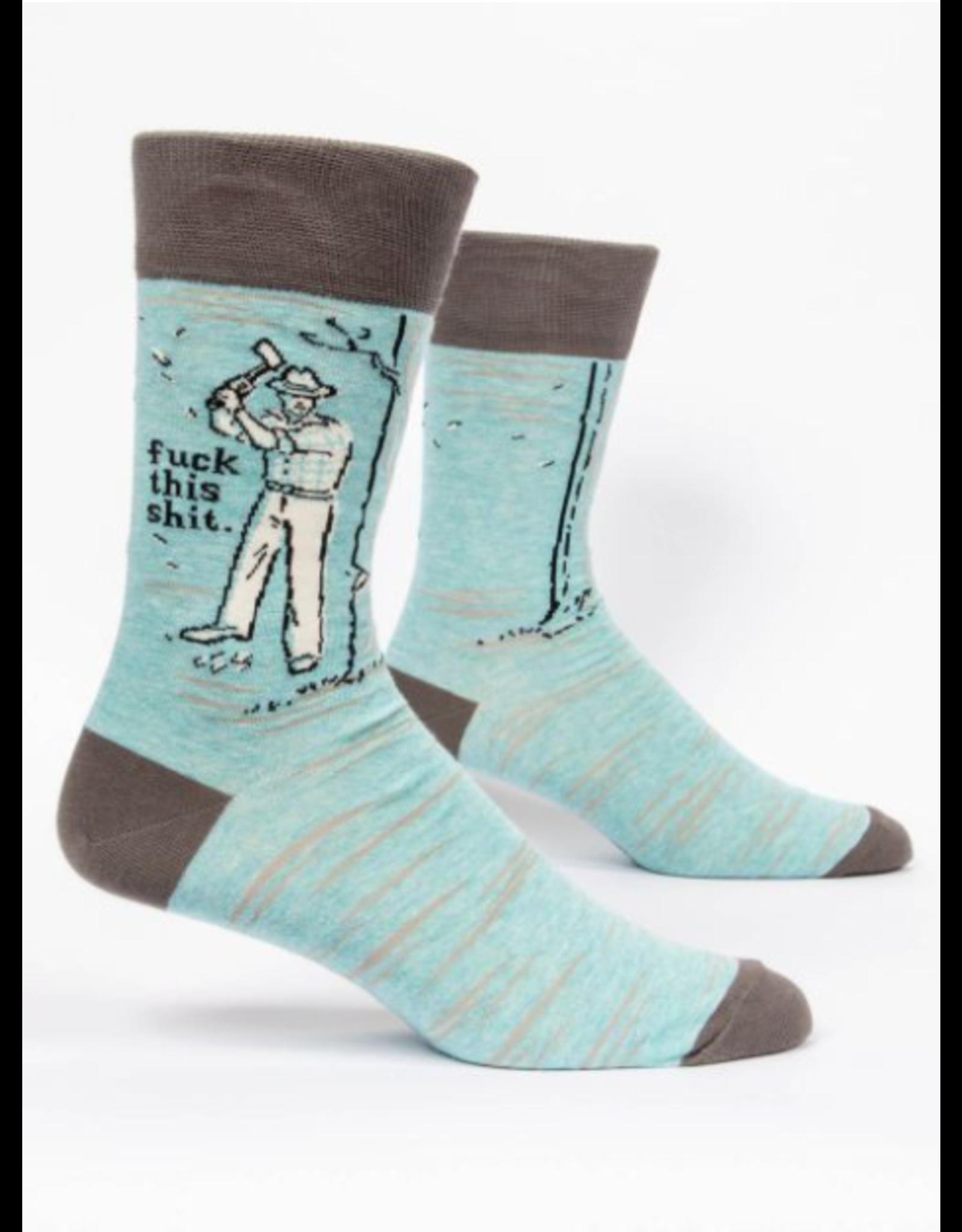 Blue Q Blue Q - Fuck This Shit crew socks (men's size)