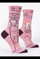 Blue Q Blue Q - Go Away, I'm Introverting - crew socks