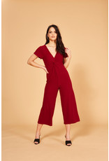 Mink Pink Textured twist front jumpsuit