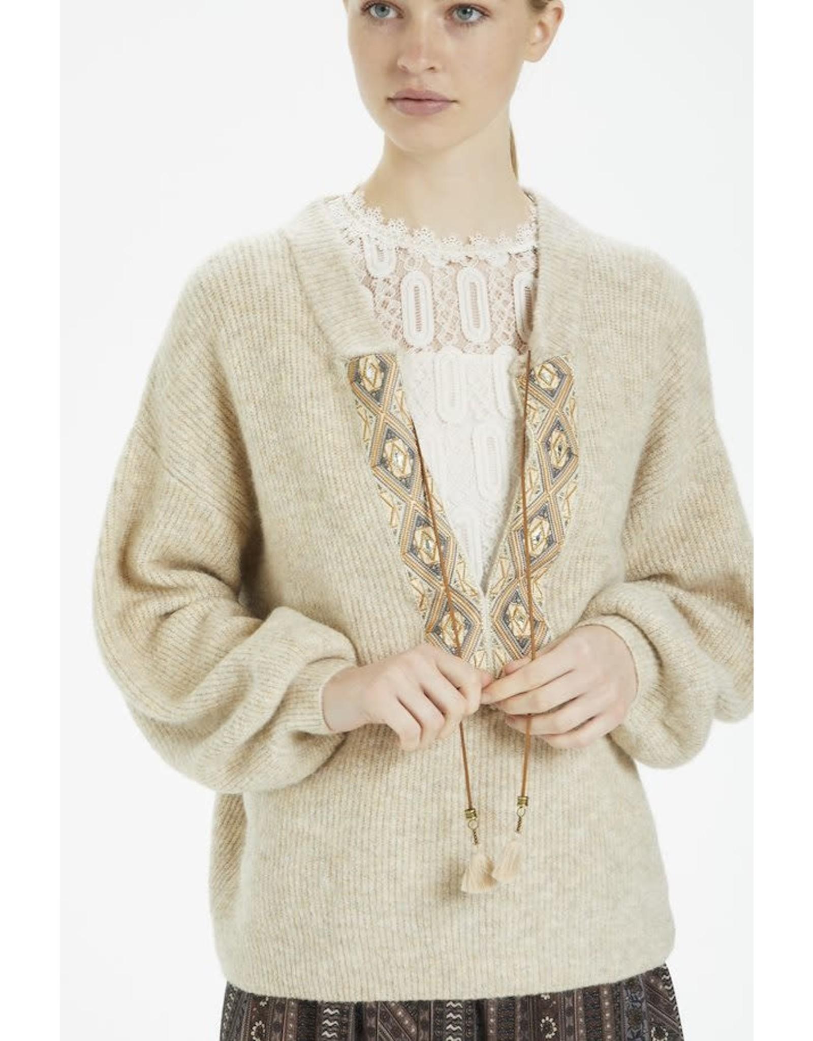 Cream Cream - Lara knit  pullover (oat)