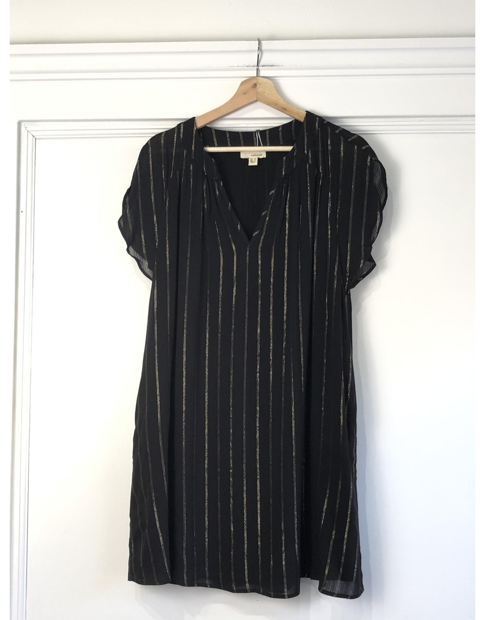 Korner Korner - Keisha v neck dress (black)