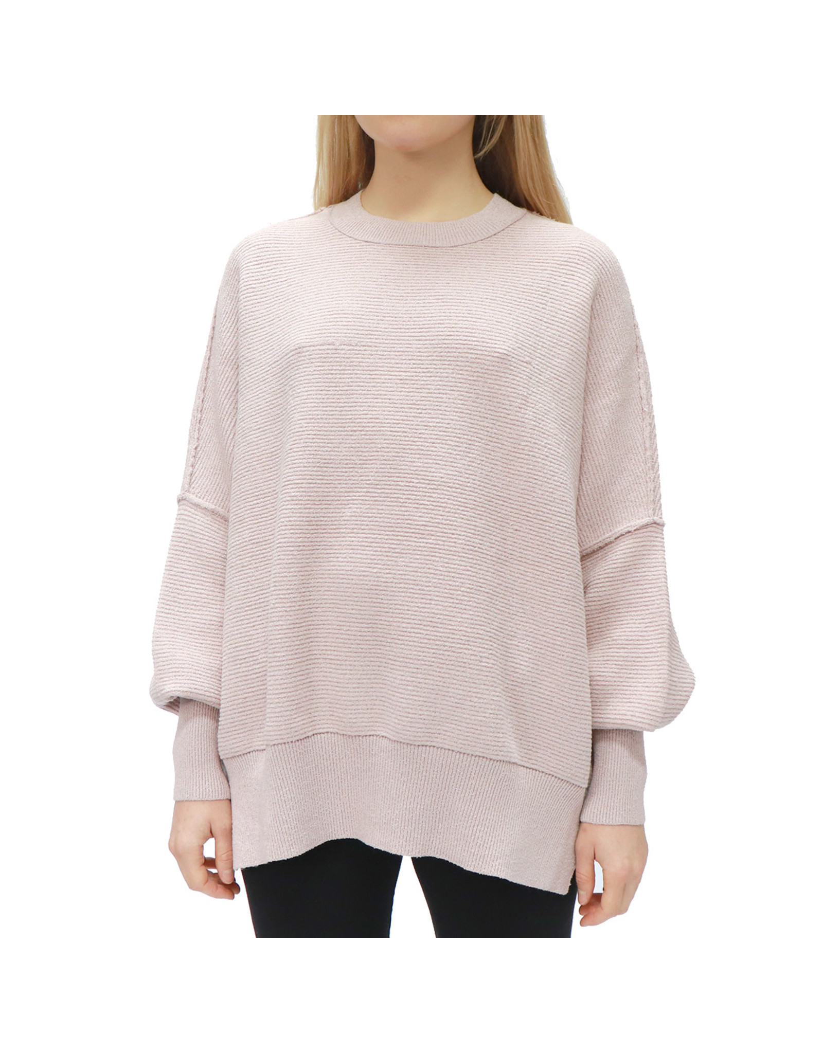 RD Style RD Style - Jessy crewneck pullover (pale pink)