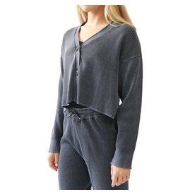 RD Style RD Style - Knit cardigan (black acid wash)