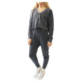 RD Style RD Style - Waffle knit joggers (black acid wash)