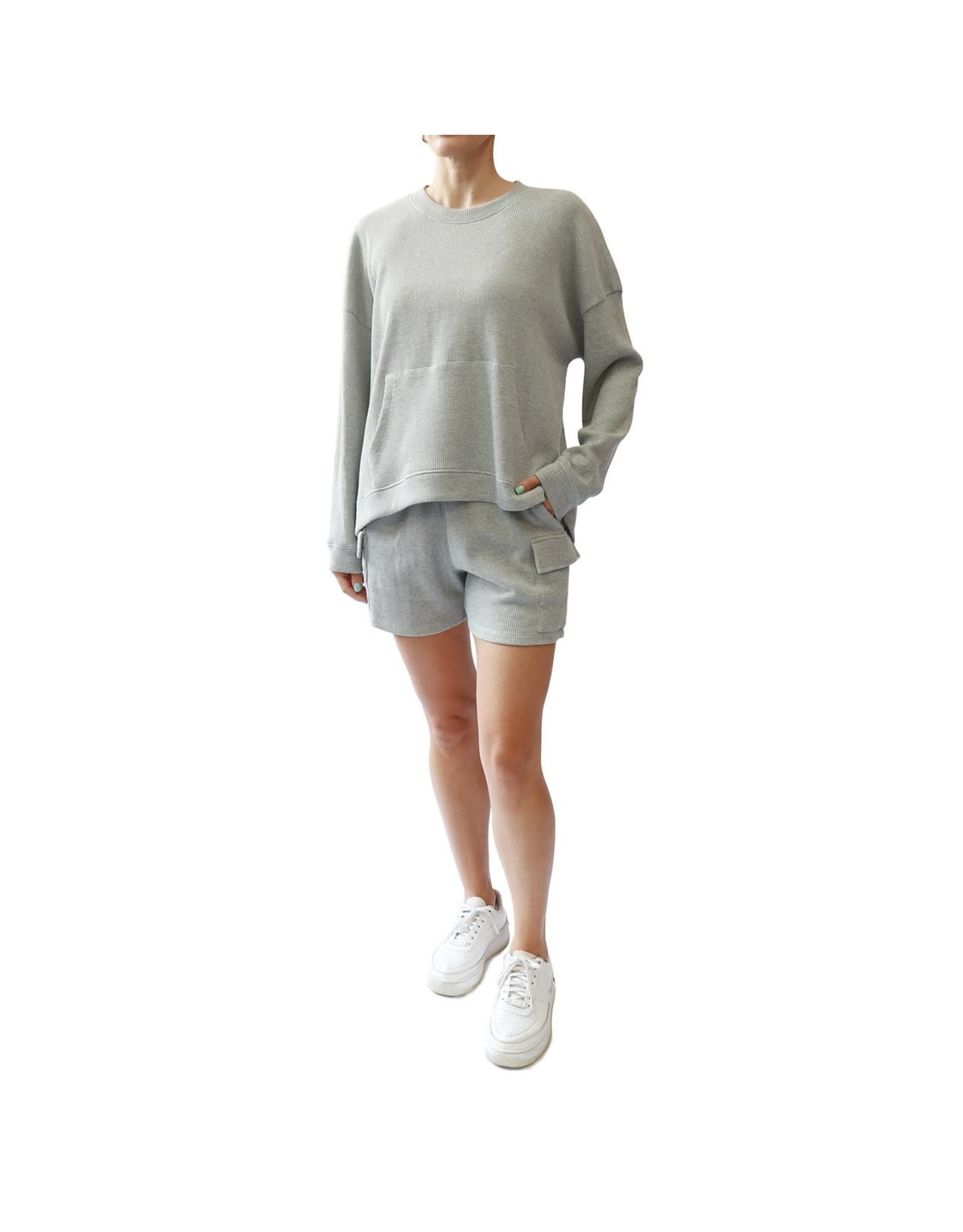 RD Style RD Style - Lina waffle knit pullover (heather grey)
