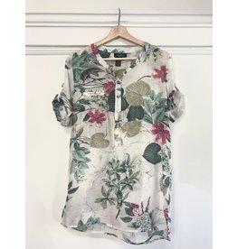 Papillon Papillon - Floral crinkle blouse