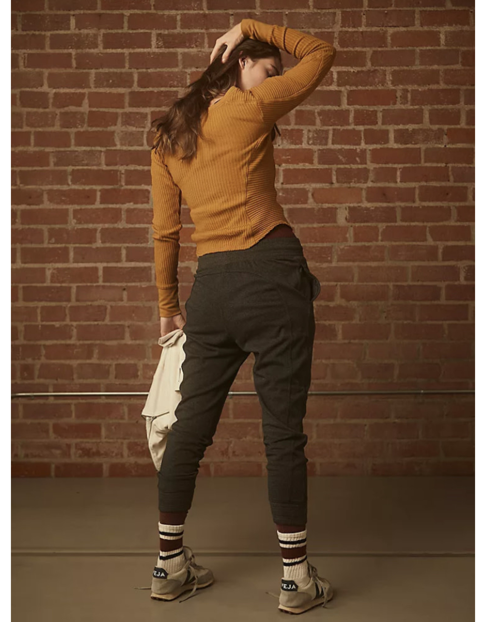 Free people Free People - The Way You Move jogger (charcoal heather)