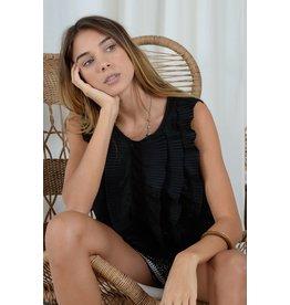 Molly Bracken Molly Bracken - Sleeveless knit blouse (black)
