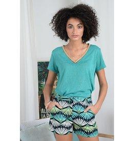 Molly Bracken Molly Bracken - Fluid shorts (Dragonfly emerald green)