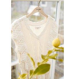 Cream Cream - Annolina knit slipover (eggnog)