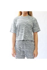RD Style RD Style - Tiger stripe waffle knit tee (heather grey)