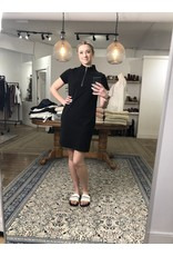 RD Style RD Style - Pique zip mock neck dress (black)