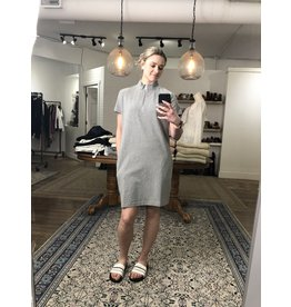 RD Style RD Style - Pique zip mock neck dress (heather grey)