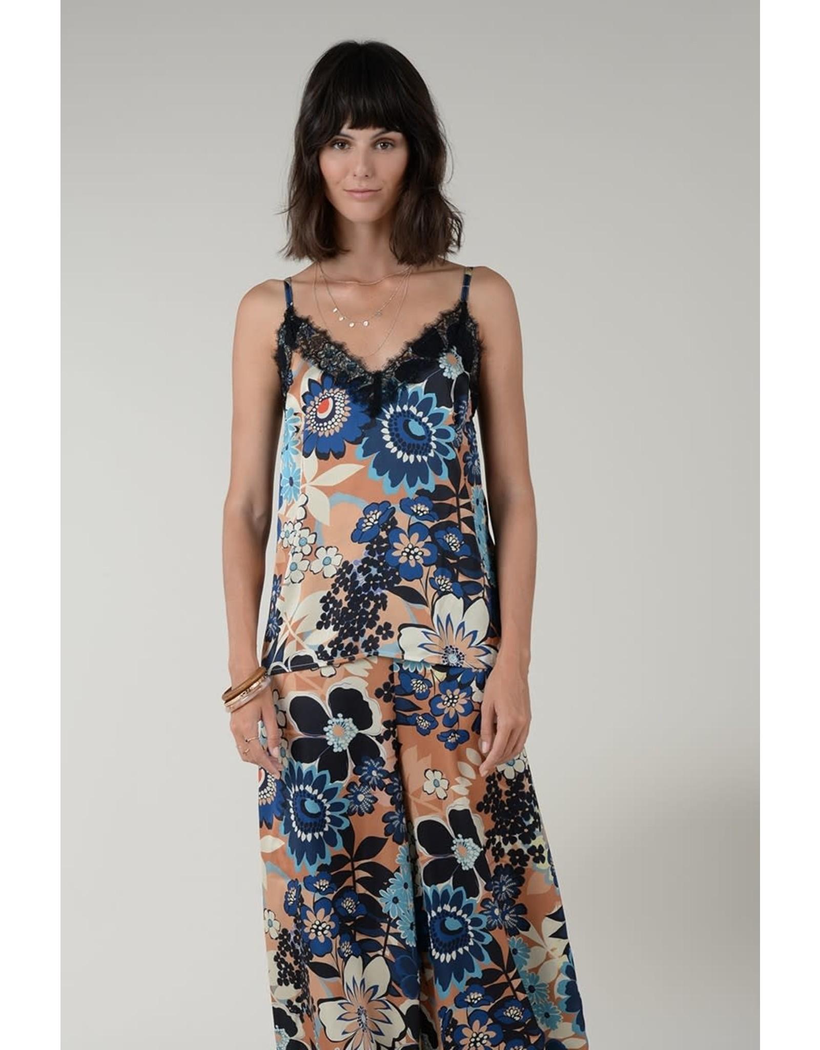Molly Bracken Molly Bracken - Strappy satin and lace camisole camisole (Riviera camel)