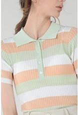Molly Bracken Molly Bracken - Ribbed top with polo collar (pistachio)