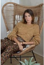 Molly Bracken Molly Bracken - Openwork fine knit sweater (light camel)