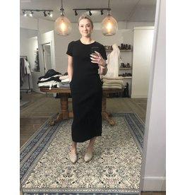 RD Style RD Style - Waffle knit t shirt maxi dress (black)