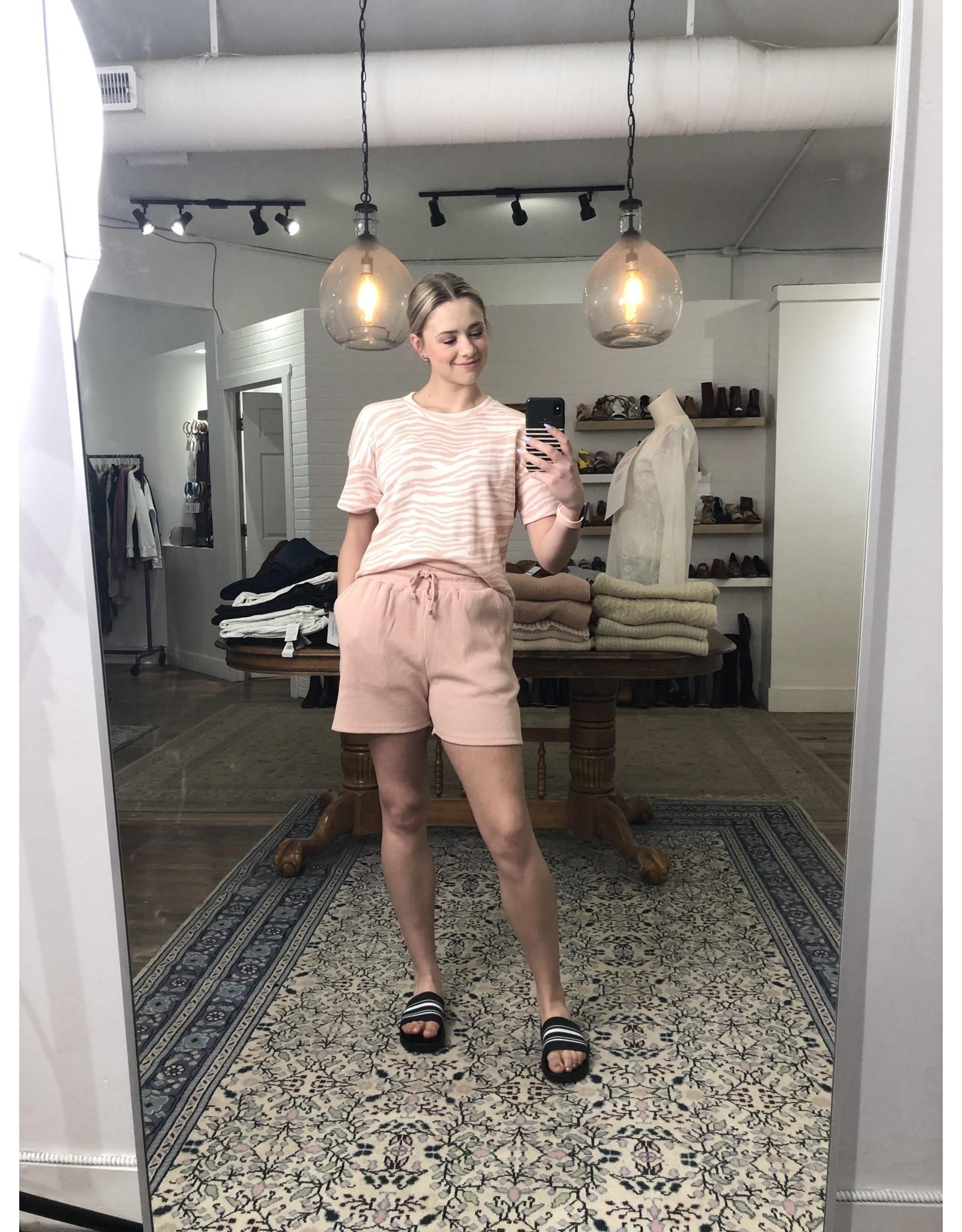 RD Style RD Style - Waffle knit shorts (shrimp)