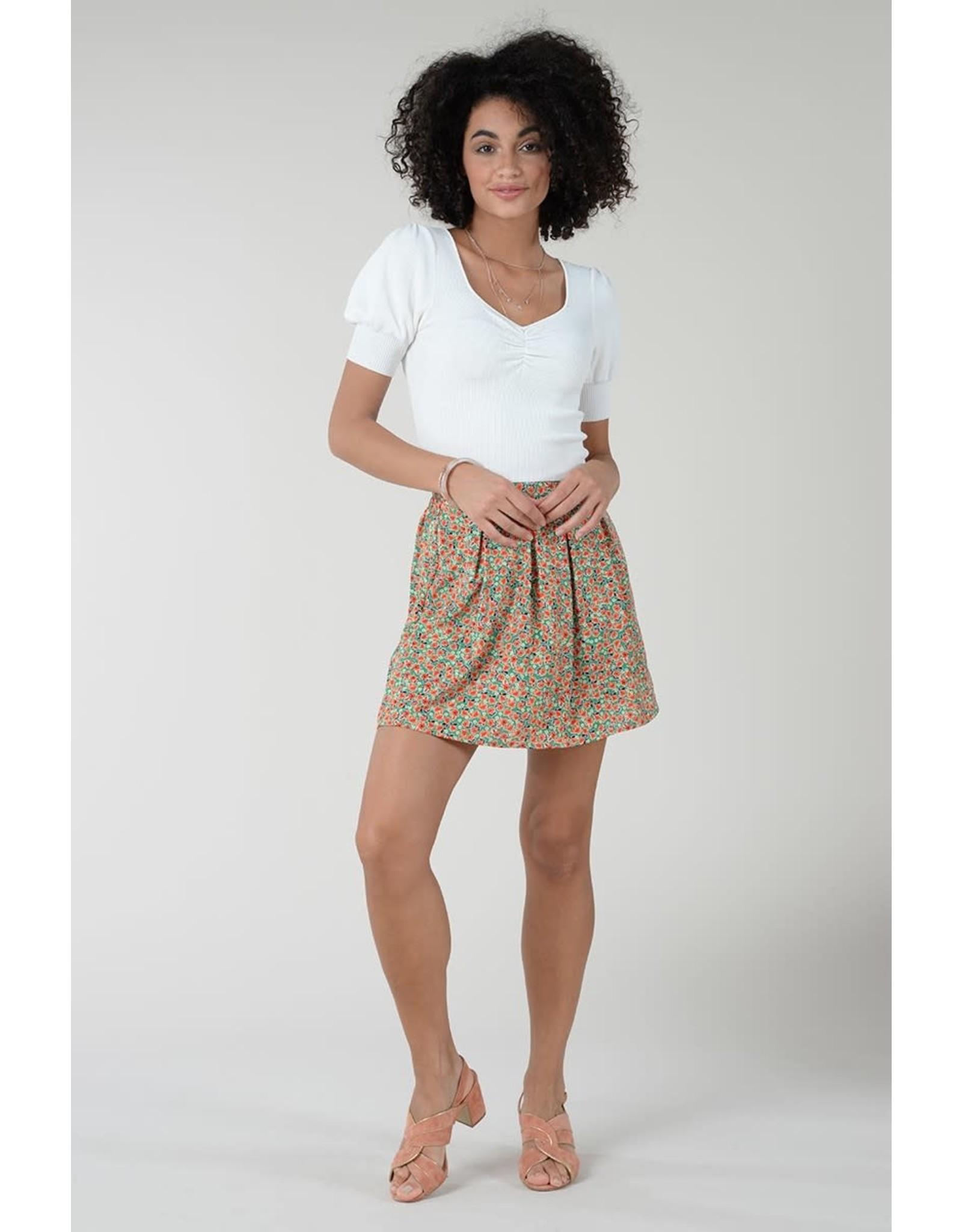 Molly Bracken Molly Bracken - Ribbed knit cropped sweater (white)