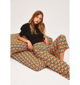 Compania Fantastica Compania Fantastica - Apricot print ankle grazer trousers