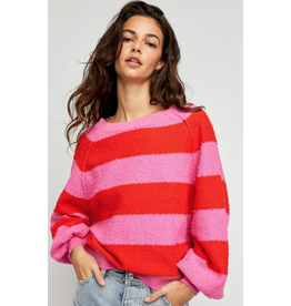 Free people Free People - Found My Friend striped pullover (be mine)