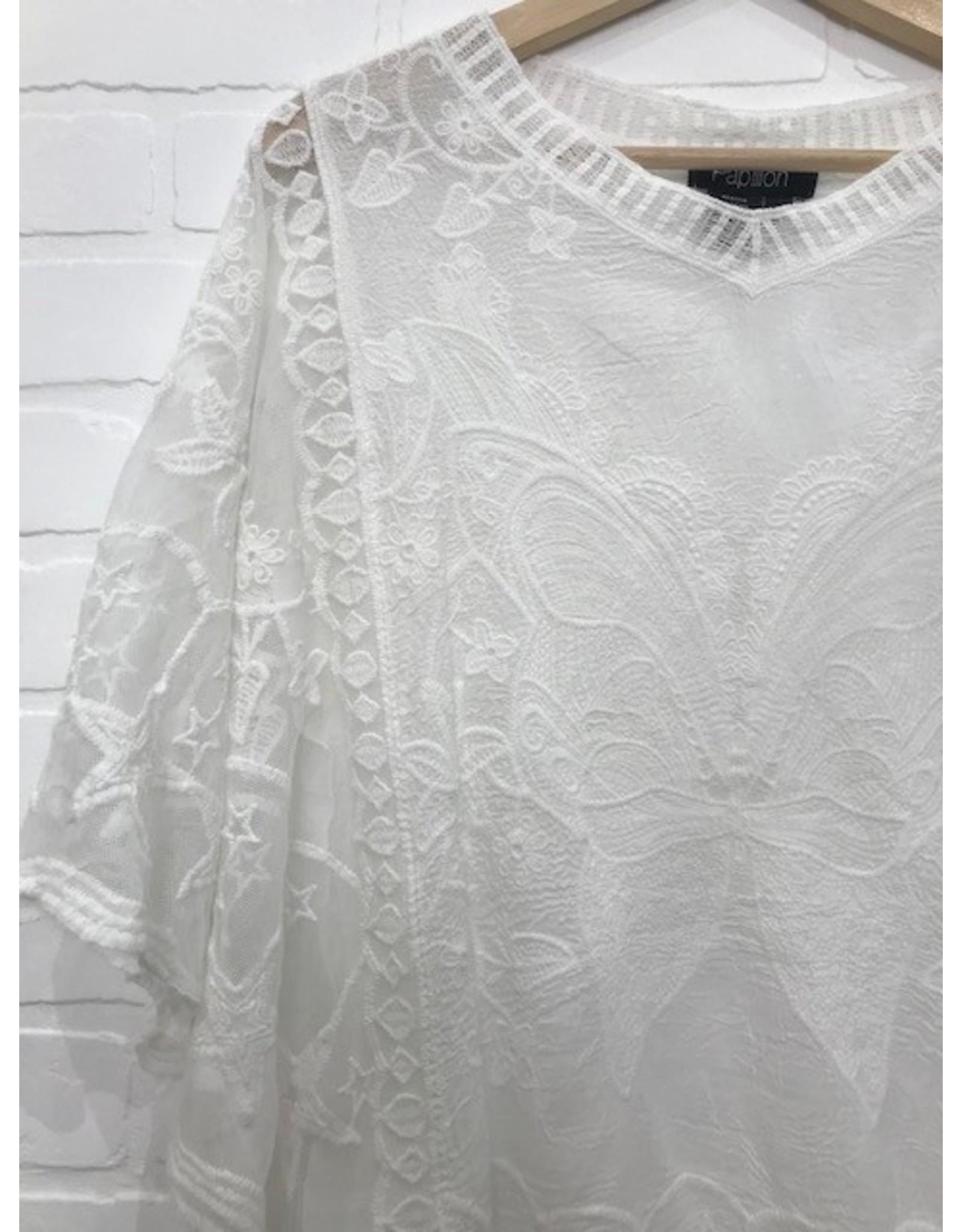 Papillon Papillon - Crochet blouse with butterfly
