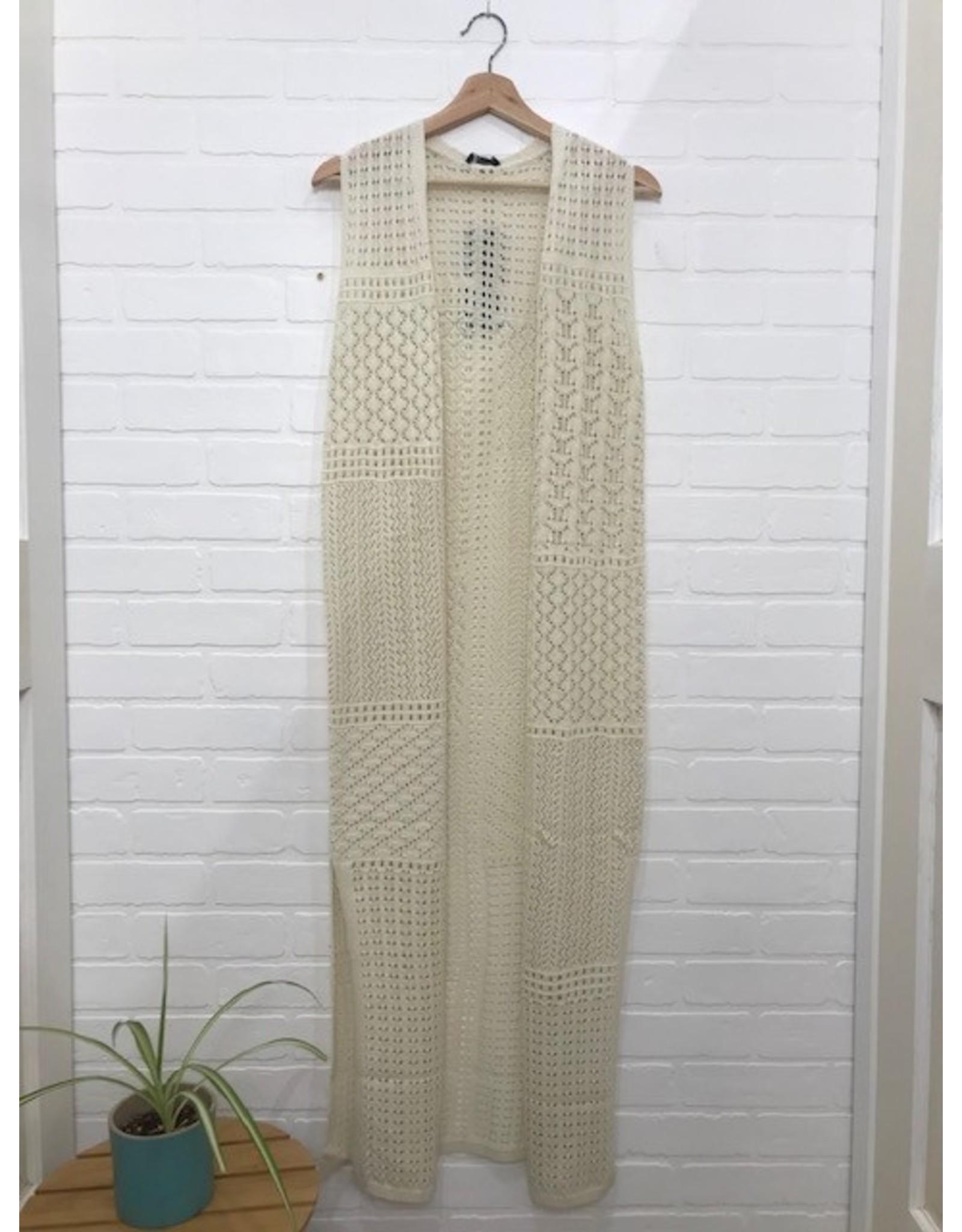 Yest Yest - Kimberley cardigan (sandy white)