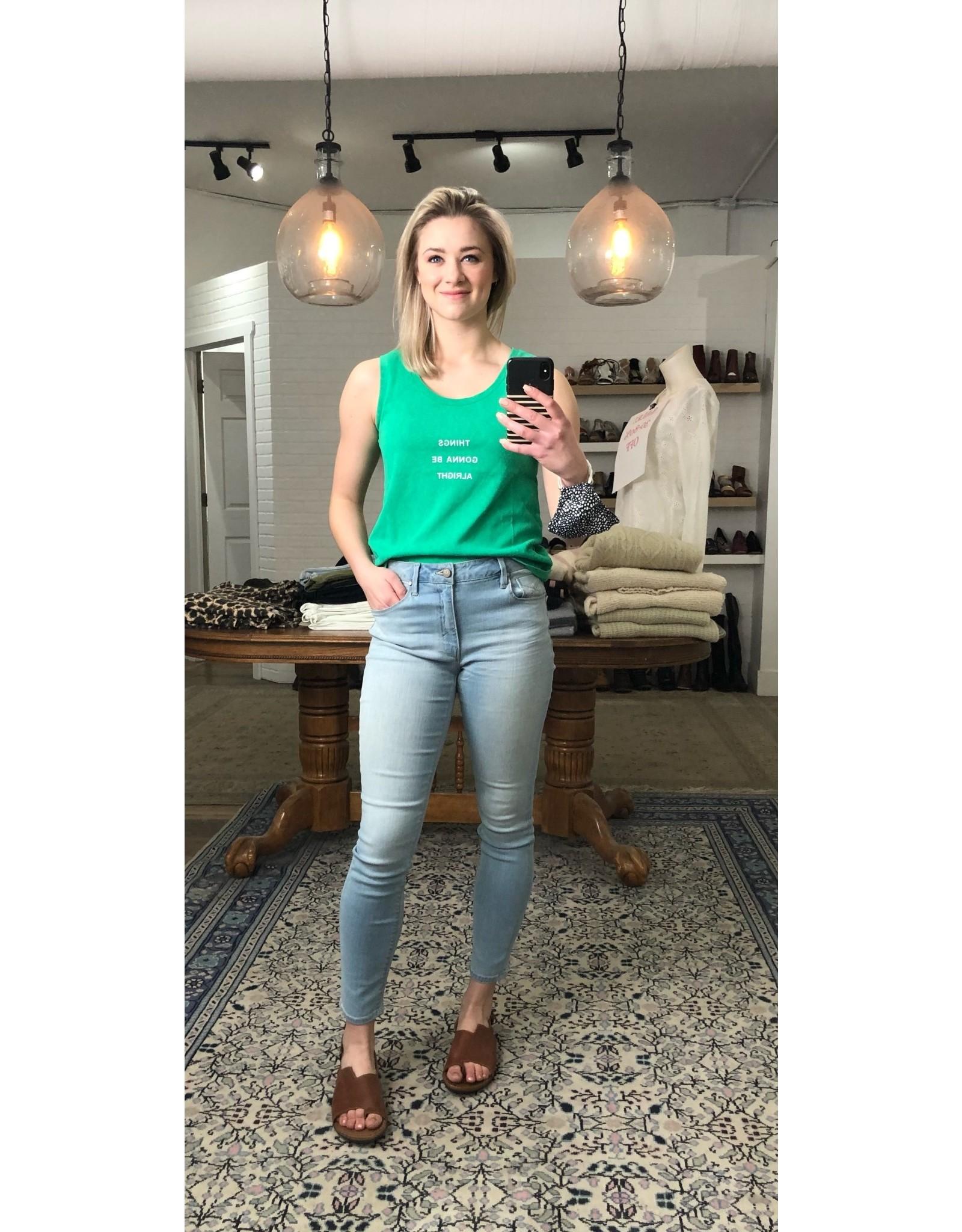 Molly Bracken Molly Bracken - Things gonna be alright tank (green)