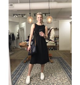 RD Style RD Style - Cotton dress with open back (black)