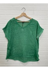 M - Made in Italy Made in Italy - Woven top with knit back (Gucci)