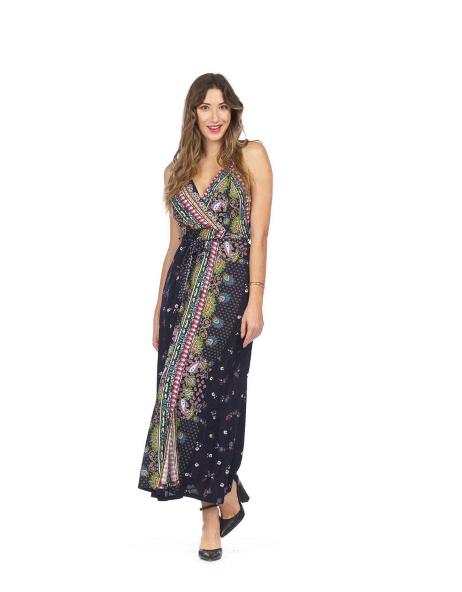 Papillon Papillon - Scarf print maxi dress