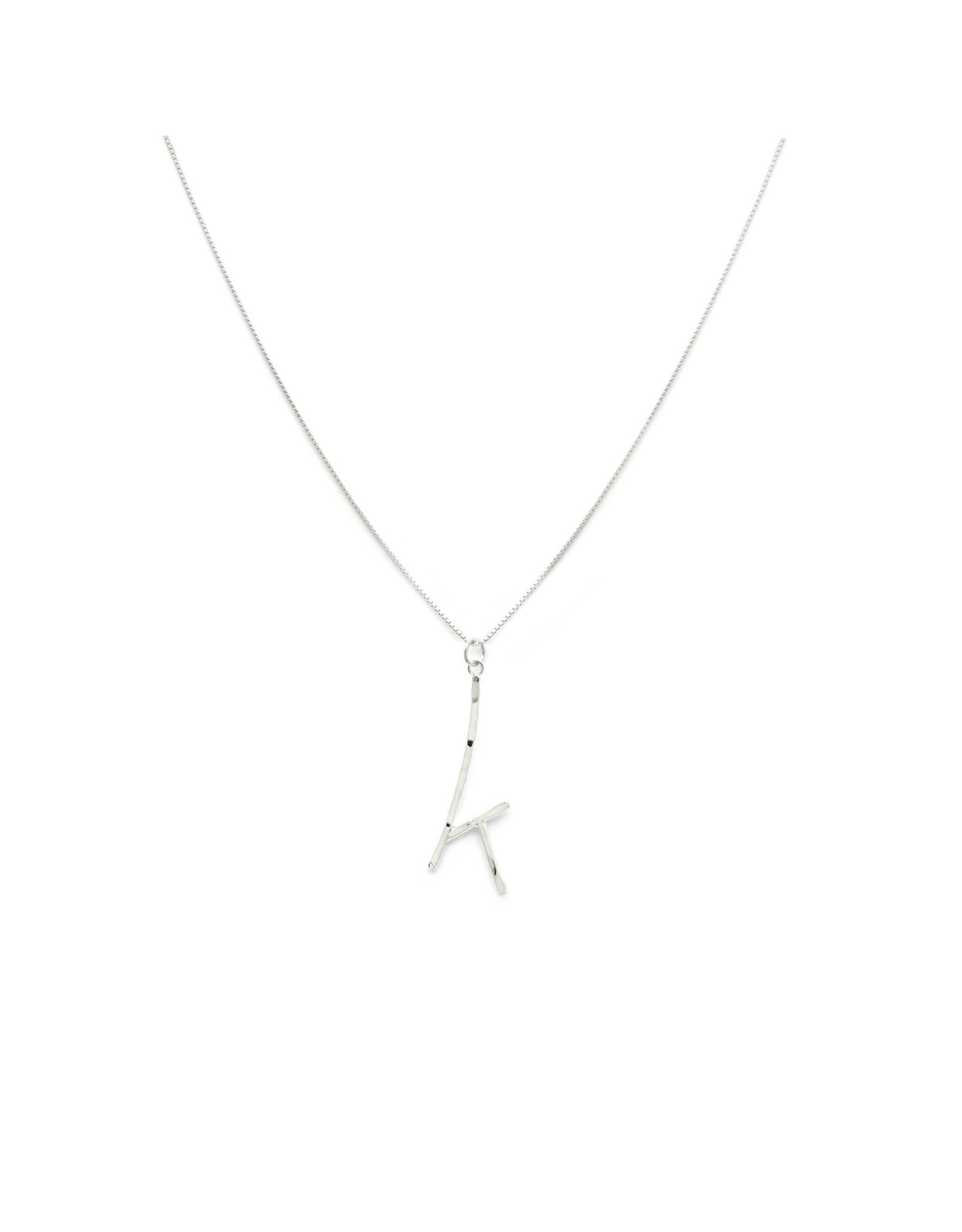 Laughing Sparrow Laughing Sparrow - Alphabet necklace - K