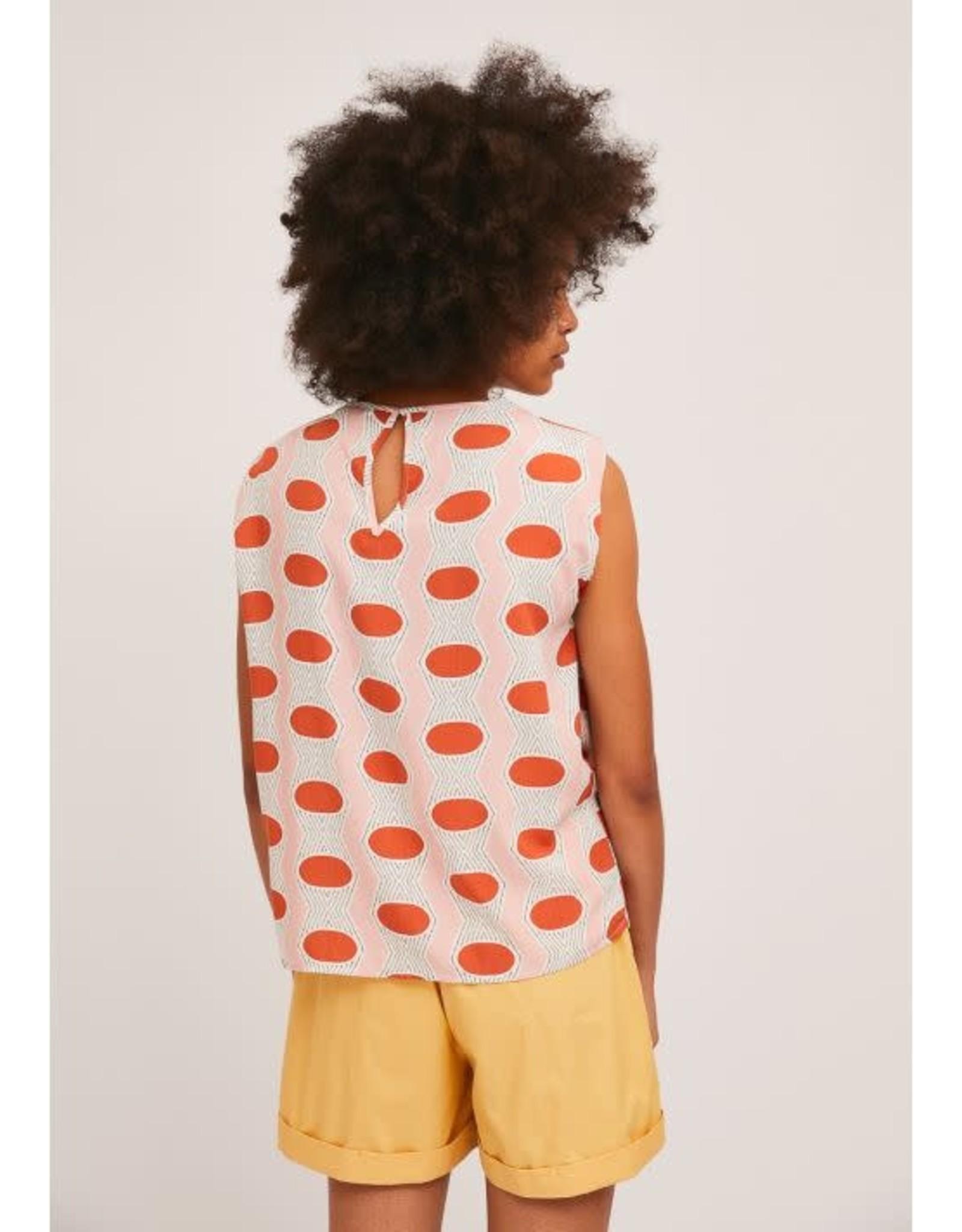 Compania Fantastica Compania Fantastica - Sleeveless oval print top