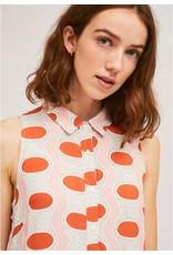 Compania Fantastica Compania Fantastica - Ruffled oval print shirtdress