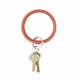 O Venture Smooth leather key ring (Take Me Tangerine)