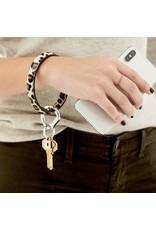 O Venture Embossed leather key ring (cheetah)