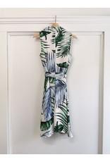 Papillon Papillon - Fern print collared dress