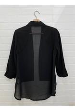 Papillon Papillon - Blazer with sheer back (black)