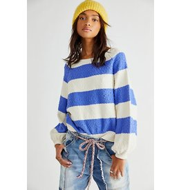 Free people Free People - Found My Friend striped pullover (lavender cream)