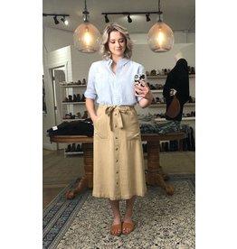 Soyaconcept Soyaconcept - Portia 2 linen skirt (tan)
