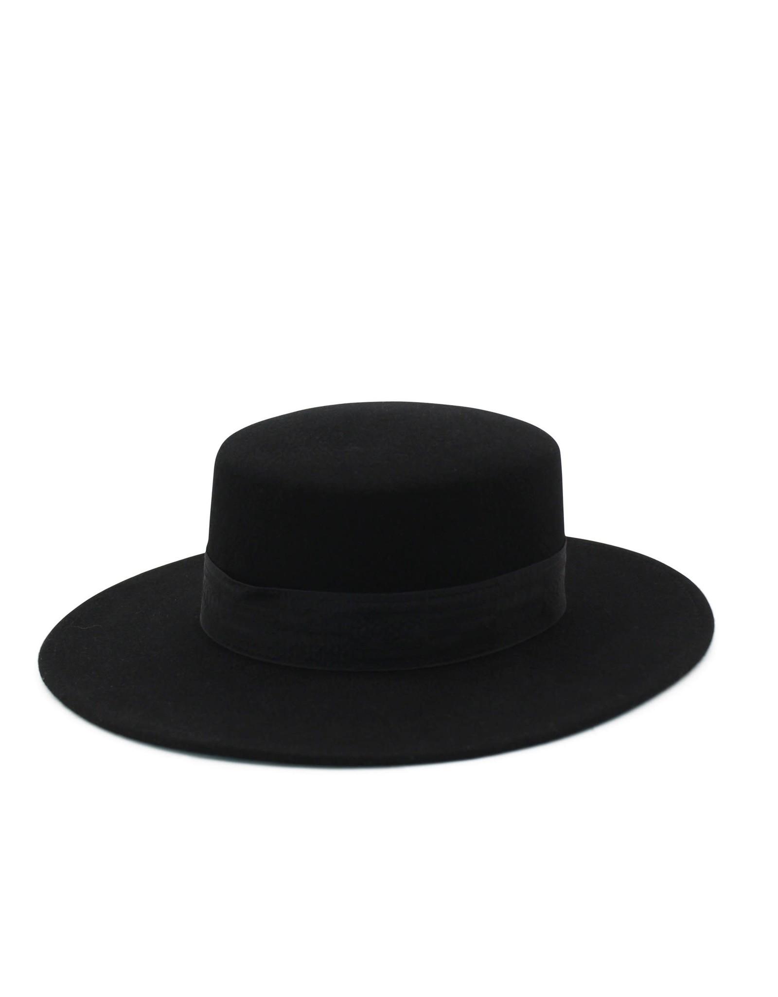 Ace of Something Ace of Something - Gunsmoke boater with black ribbon trim (black)