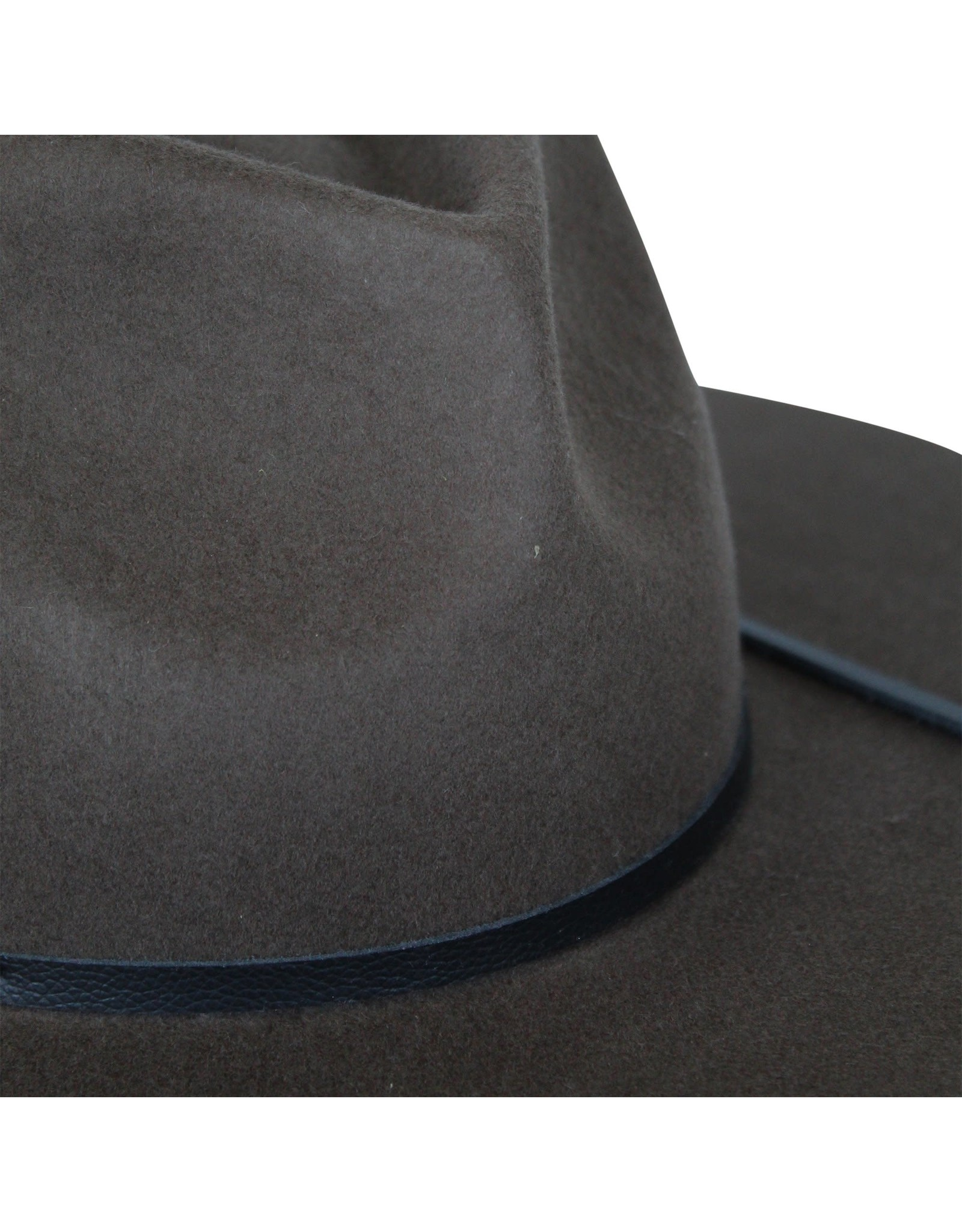 Ace of Something Ace of Something - Bronco fedora with pinched crown and broad brim (truffle)
