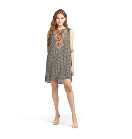 Papillon Papillon - Geo print dress with embroidery