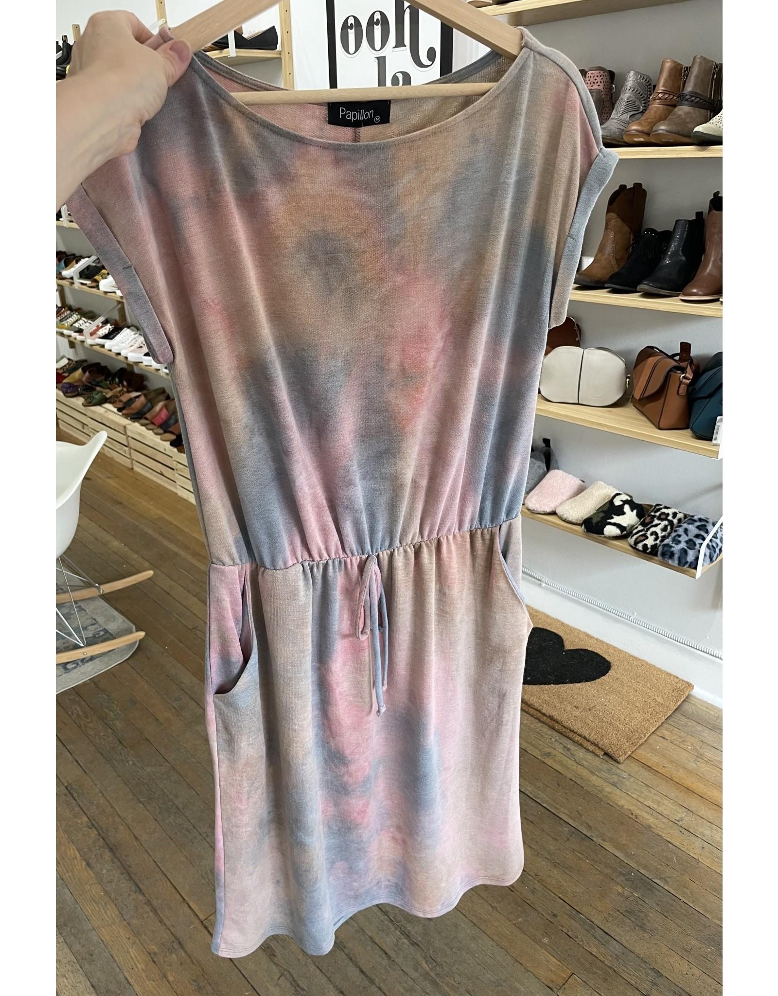 Papillon Papillon - Knit tie dye dress