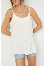 Hayden Inez - Tiered cami top (off-white)