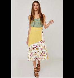 Ces Femme Joni - Mixed print midi skirt