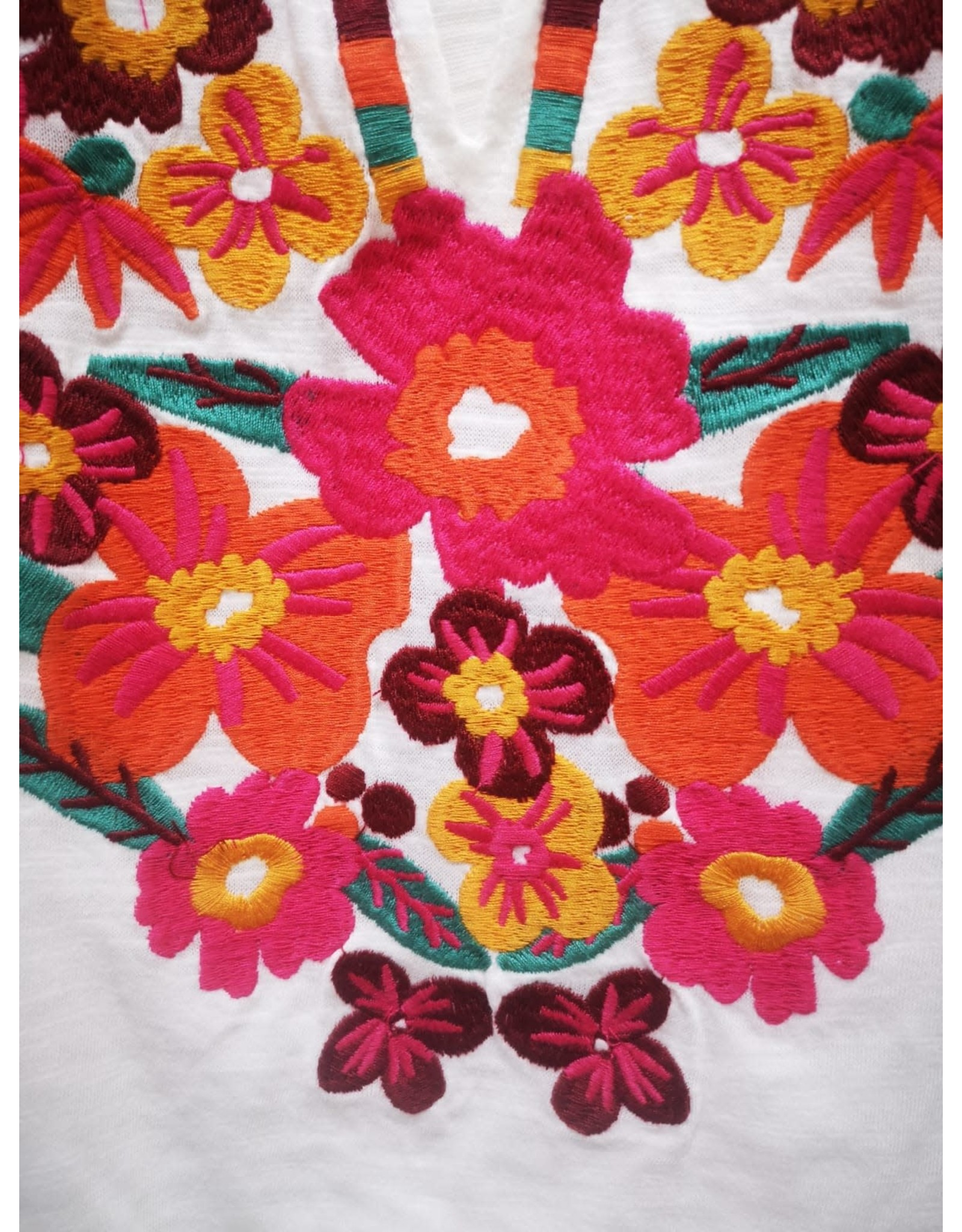 THML Azalea - Embroidered fringe v-neck top